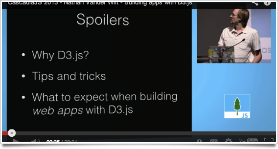 Video of my CascadiaJS presentation on building D3 webapps