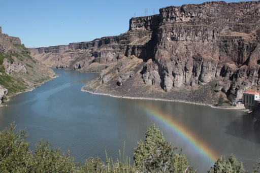 Snake River canyon near the attempted derring-do