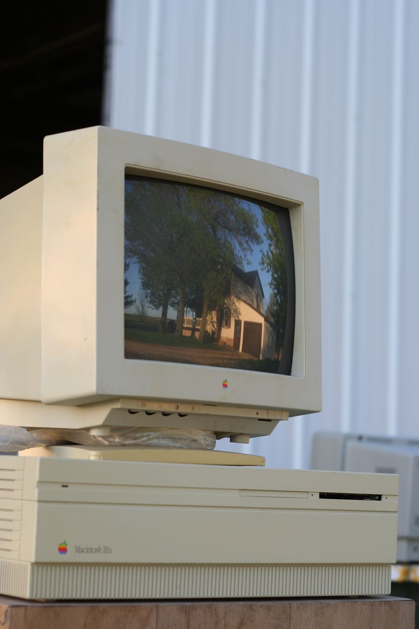 Picture of a Macintosh IIfx, which Not a NeXT Computer, and also has no input devices attached…