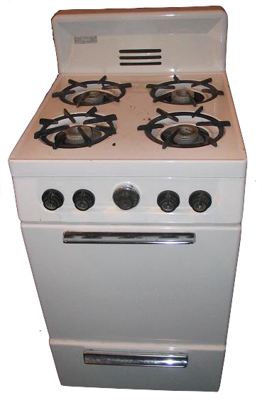 An old kitchen stove — image from http://en.wikipedia.org/wiki/File:Gas_stove.jpg
